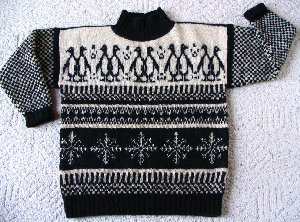 Penguins (model #8) sweater